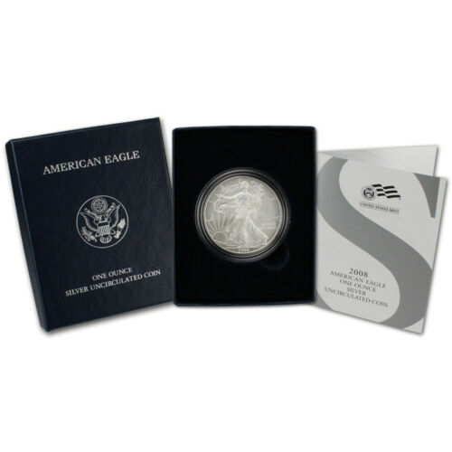 2008-W American Silver Eagle Uncirculated Collectors Burnished Coin