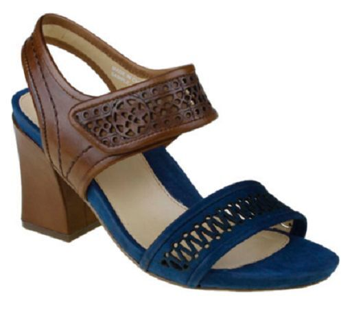 Earthies shoes Womens Asola bluee Multi Suede Leather Sandal EUR 35 - 35 1 2 UK 3