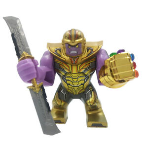 USA Rare Thanos Double Sword Lego Big Figure Marvel Avengers Endgame Duplo NEW