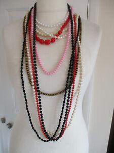 Set di 10 diversi colori perline collane
