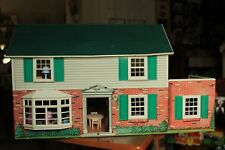 Vintage MARX Colonial Dollhouse Doll House Tin Litho Furniture People Extras Bal