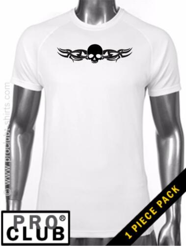 Pro Club Men/'s Skull Hipster Funny R /& R Tattoo DryPro MMA Gym Polyester T-Shirt