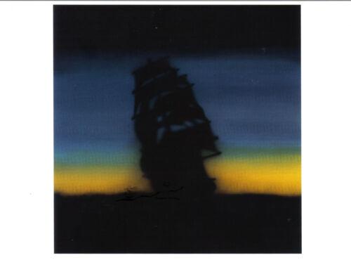 Kunstpostkarte Ghost Ship Geisterschiff Ed Ruscha