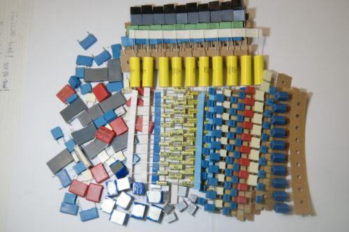 250pcs KIT assortment capacitor MKP MKT 2.2nf 2.2uf  WIMA ROE MCE SIEMENS