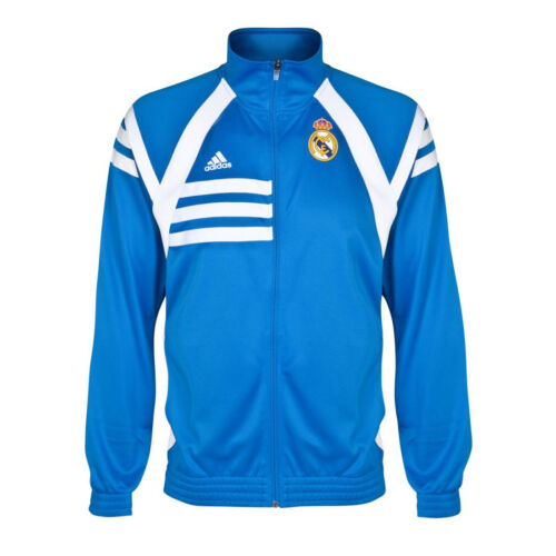 Adidas Real Madrid Tracktop Track Suit Top Jacket Jersey Anthem Air Force Blue
