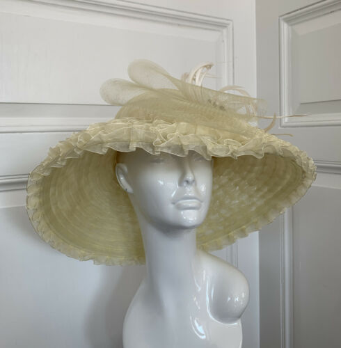 special gift for her wedding Vintage 1960s shimmering threads derby Designer Formal Cloche Hat for special occasion by Hats by Gertrude