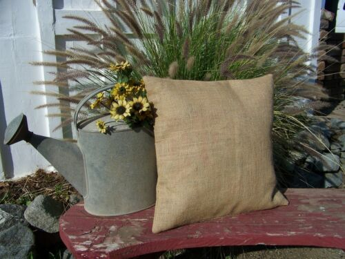 Burlap Pillow 20x20 Throw Decorative French Country Farmhouse covers Set of 3