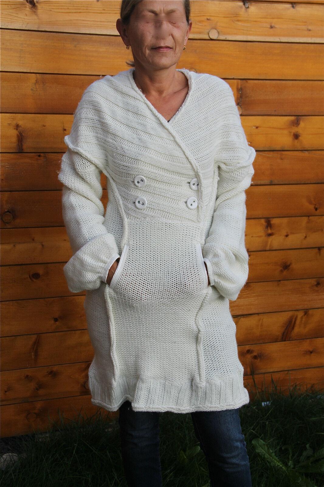 Coat dress wool white MC PLANET T 40 new label TOP RANGE val