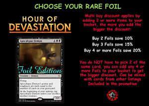 Mint MTG Hour of Devastation HOU Choose your Rare Foil Multi-Buy Discount