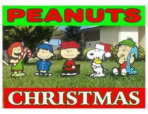 image is loading charlie brown peanuts gang christmas holiday yard lawn