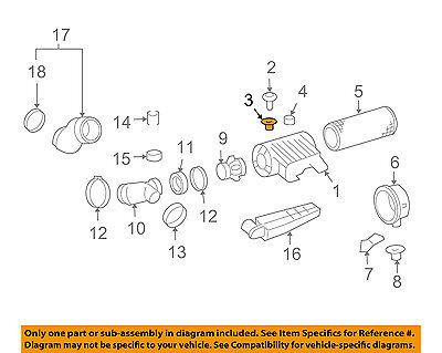 GM OEM Air Cleaner Intake-Box Housing Assy Insulator 22739022