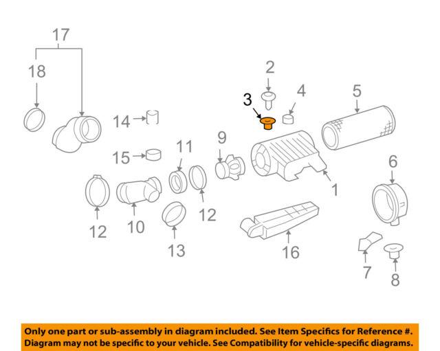 GM OEM Air Cleaner Intake-Air Cleaner Insulator 12563914