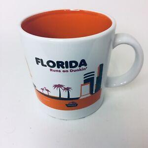 Dunkin Donuts Florida Mug Florida Runs On Dunkin 2012 Flamingos Palm Trees