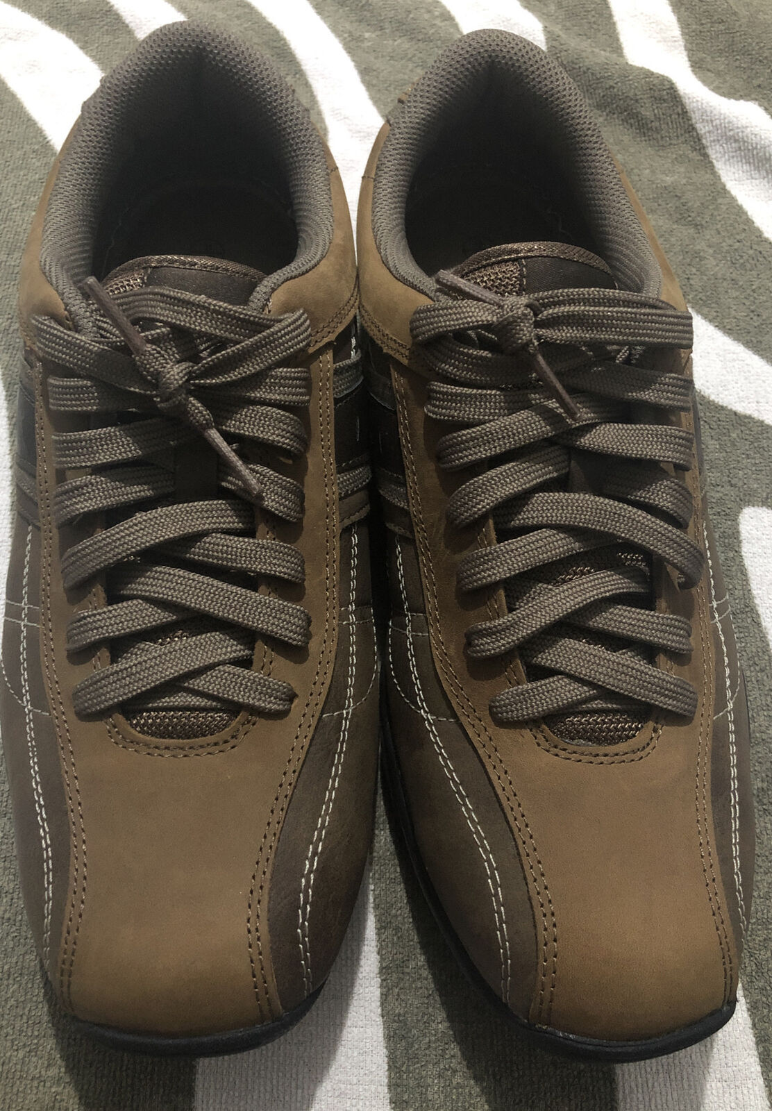 Kangol Mens Brown Comfort Leather Trainers Casual Shoes New RRP UK Size 9