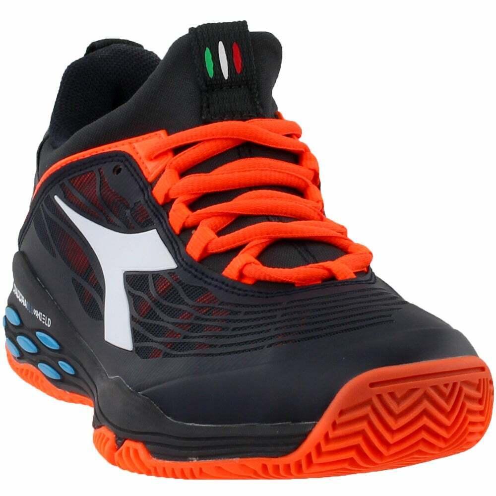 Diadora Speed azulshield Fly zapatos tenis de arcilla-Negra-Para Hombre