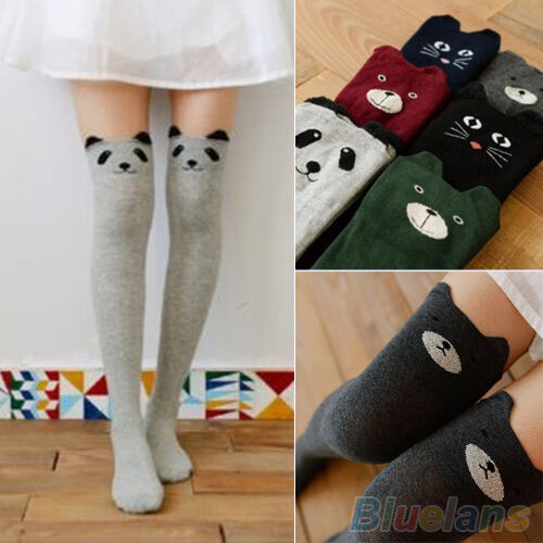 Women Cute 3D Cartoon Animal Pattern Thigh Stockings Chic Over Knee High Socks