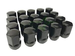 Buyer Needs to Review The spec 20pcs 1.87 Black 9//16-18 Wheel Lug Nuts fit 2001 Dodge Ram 2500 Van May Fit OEM Rims