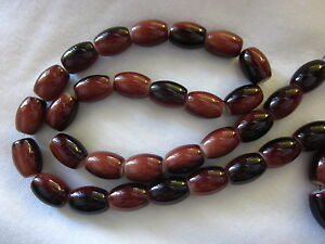 20-Brown-13x10mm-Oval-Opaque-Glass-Beads-g184