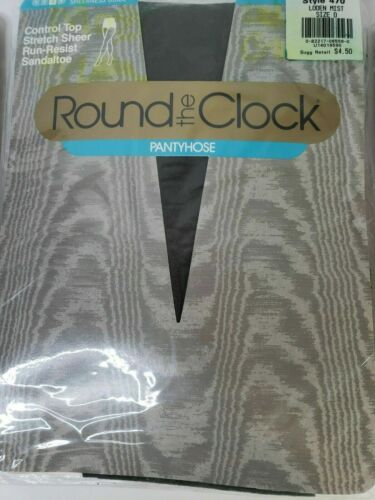 Round the Clock Pantyhose Sz D Stately Control Top Sandaltoe Vintage