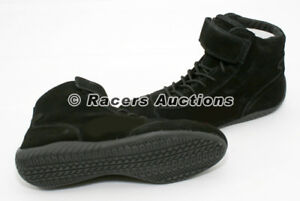 NEW-Black-Mid-Top-Size-11-Driving-Racing-Shoes-Karting-Circle-Track-Safety