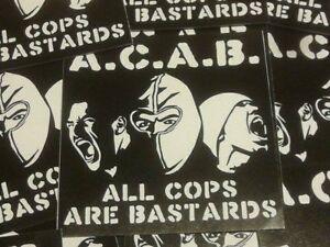 Details About 500x Acab Aufkleber Acab Stickers Ultras Punk Hooligans Ultra Oi Fussball 1312