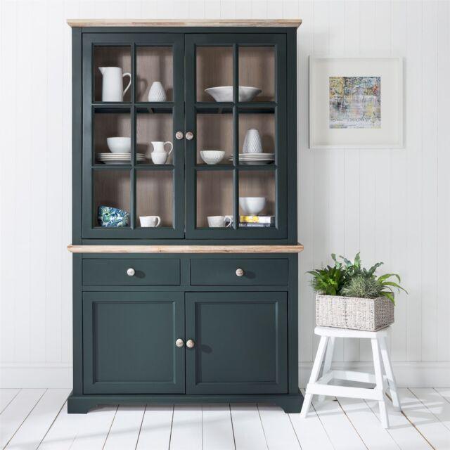 Florence Display Cabinet Bottle Green Glass Door Dresser Quality