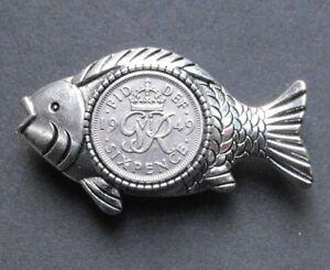 1949 70th Compleanno Fortuna Pesce Spilla Badge esca da Pesca Tackle regalo King  </span>