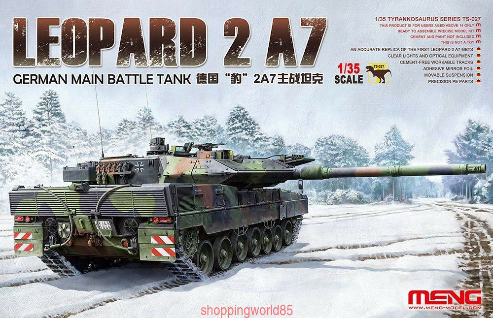 Meng Model 1 35 TS-027 German Main Battle Tank Leopard 2 A7