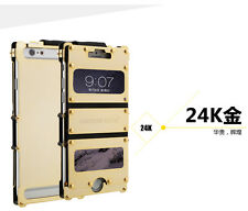 ARMOR KING Iron Man 24K Gold Electroplating Cover Metal Case for iPhone 6 Plus