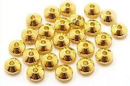 ca goldfarben 6x4mm 25 Metall-Linsen