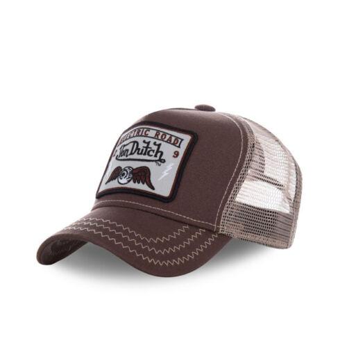 **BRAND NEW** SQUARE BROWN VON DUTCH TRUCKER CAP