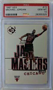 1997-97-Upper-Deck-UD3-JAM-MASTERS-Michael-Jordan-15-Insert-Graded-PSA-10