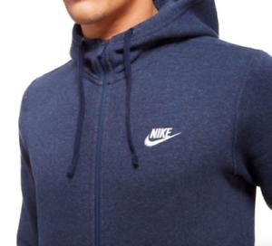 b4a306ccc5 Dettagli su Nike Abbigliamento Sportivo Cerniera Intera Uomo Felpa con  Cappuccio XL Blu