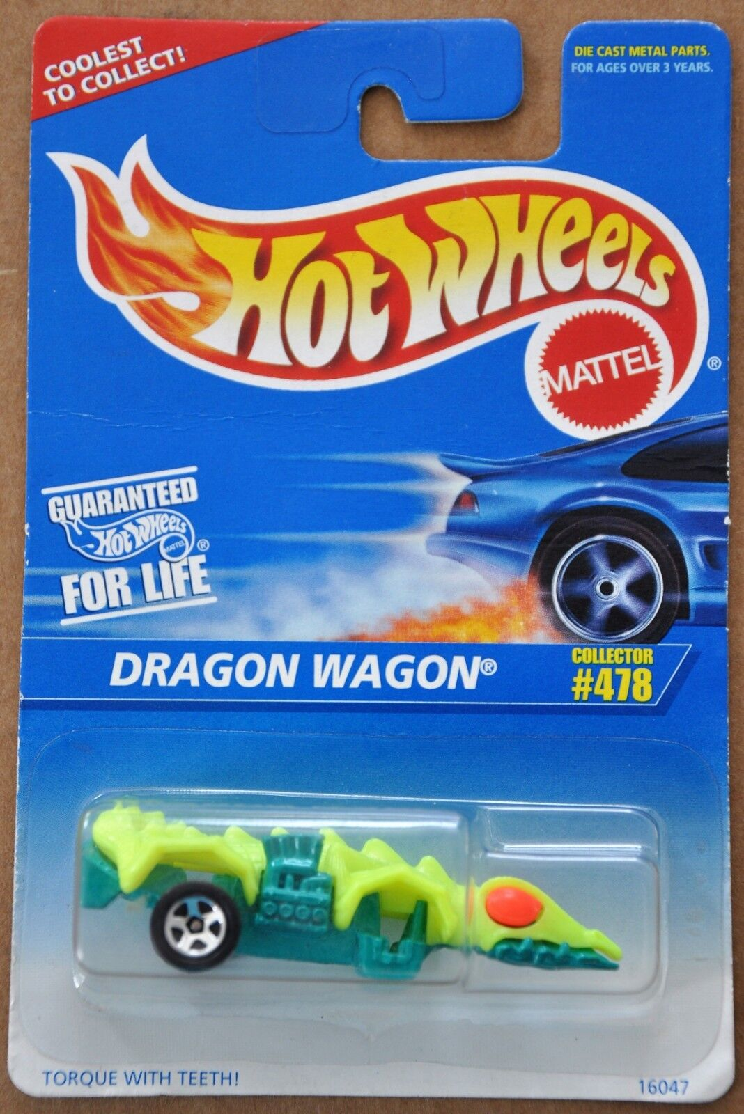 1996 Hot Wheels Dragon Wagon Collector ERROR MISSING WHEELS