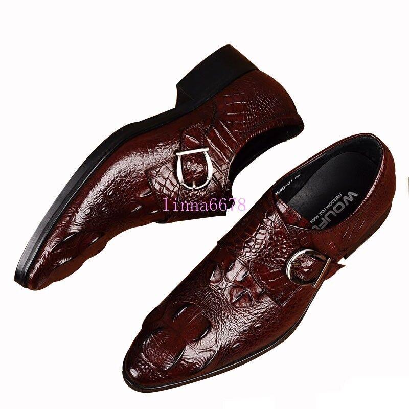 Zapatos Zapatos Zapatos De Cuero Real Cocodrilo Cocodrilo Ta para hombre de negocios de vestir Formales Oxford 744d77