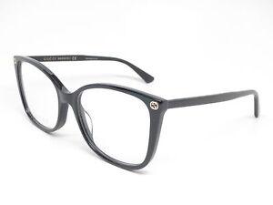 f8e052f949 New Authentic Gucci GG0026O 001 Black GG 0026O Eyewear Eyeglasses ...