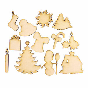 Christmas Shapes.Details About Wooden Laser Cut Shapes Various Sizes Decorative 12 Christmas Shapes Toppers