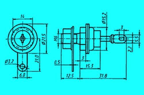 diffusion Binding 4x D246A   Cilicon diodes 400V 10A