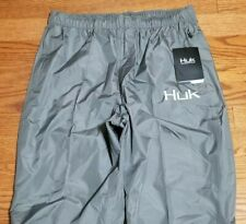 Huk Performance Fishing Men/'s Packable Rain Pants Gray size XLarge