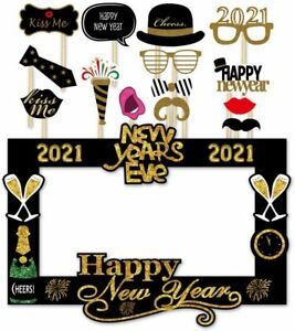 SWYOUN 14PCS Glitter 2021 Happy New Year's Eve Party Photo Booth Props Supplies 16264200643 | eBay