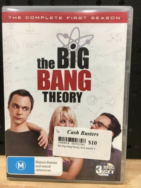 THE BIG BANG THEORY THE COMPLETE FIRST SEASON 3 DISC SET - LIKE NEW