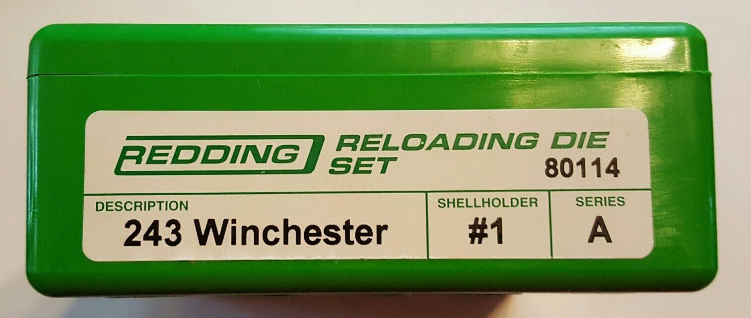 80114 rojoDING 2-DIE conjunto de longitud completa 243 WINCHESTER Die-Nuevo-Envío Gratis