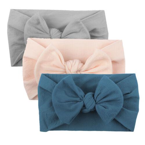 Girls Baby Toddler Turban Headband Hair Band Bow 5PCS Accessories Headwear DA