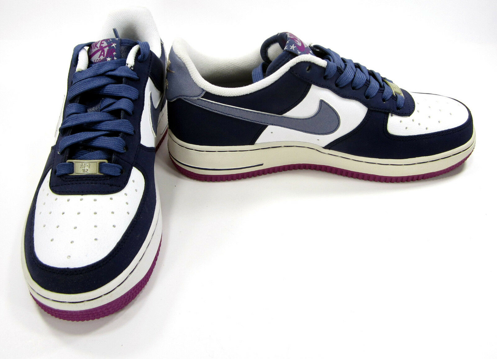 Nike Shoes Air Force 1 Low White/Blue/Purple Sneakers Comfortable Wild casual shoes