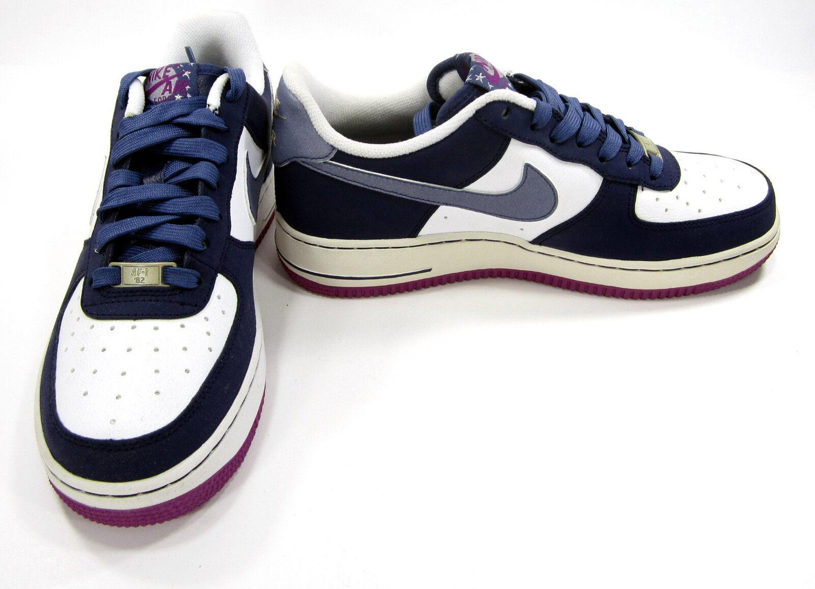 Zapatillas Nike Air Force 1 Low blanco / azul / Casual morado zapatillas comodas Wild Casual / Shoes 0dd79d