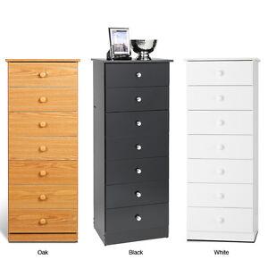 lingerie storage dresser seven drawer chest bedroom furniture tall space saving ebay. Black Bedroom Furniture Sets. Home Design Ideas