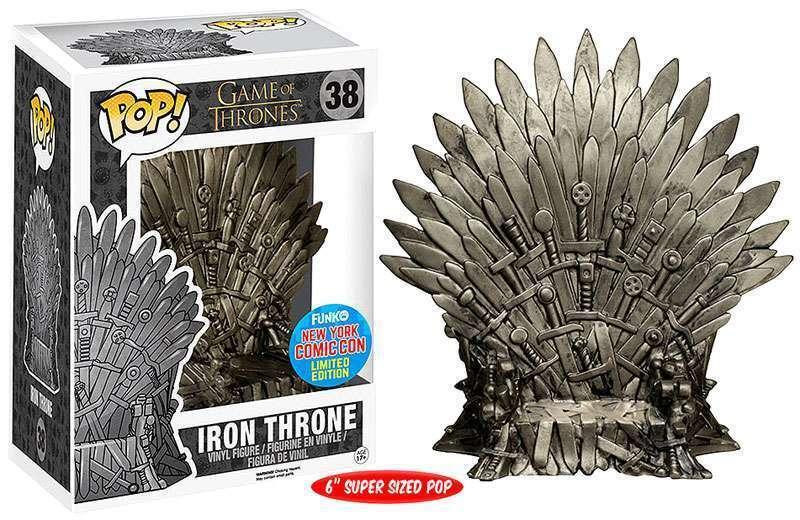 Iron Throne NYCC Comic Con Exclusive POP  Game of Thrones  38 Vinyl Figur Funko