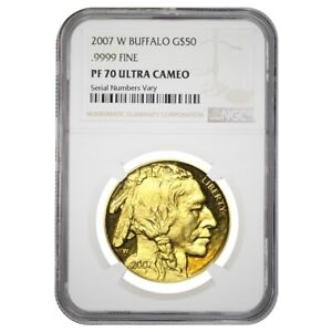 2007-W-1-oz-50-Proof-Gold-American-Buffalo-NGC-PF-70-UCAM