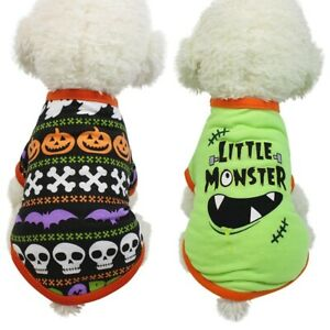 Puppy-Pumpkin-Dog-Halloween-Pumpkin-Coat-Costume-Clothes-Pet-Vest-T-shirt-New