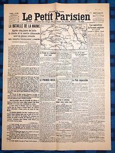 La-Une-Du-Journal-Le-petit-parisien-12-Sept-1914-La-Bataille-De-La-Marne